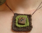 Prairie Timber Felted Necklace