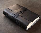 Black Leather Journal or Sketchbook