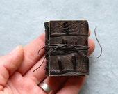 Miniature Book - Faux Alligator