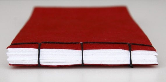 Red Japanese Stab Bound Book