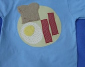 Custom Listing for applepiesf, Size 4T Eggs and Bacon Tee