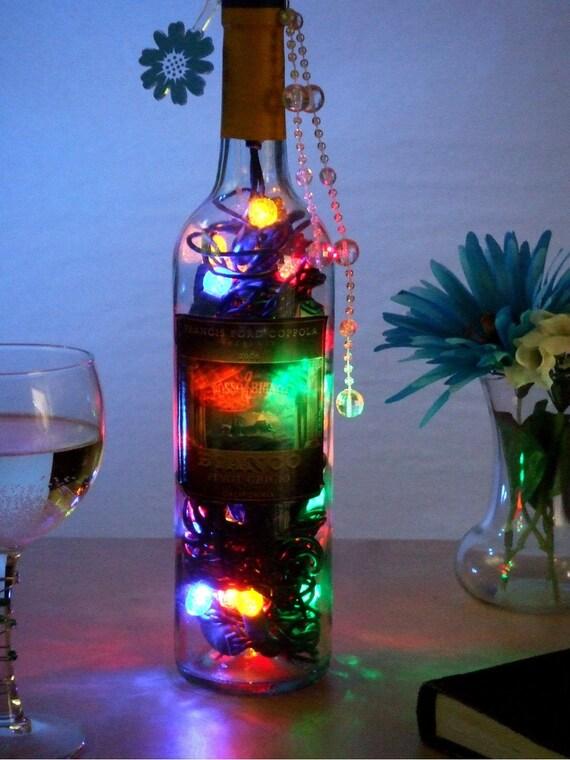 Fun Color LED Nightlight Wine Bottle Lamp