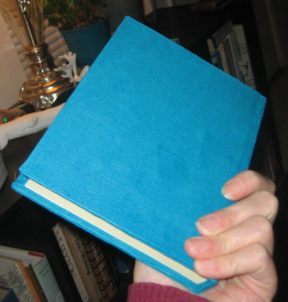 the ocean blue lined journal - corduroy
