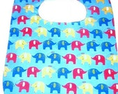 Blue Elephant Soak Proof Baby/TOddler BIb