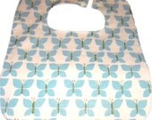 Slate Blue Butterflies Soak Proof Baby/Toddler Boutique Bib