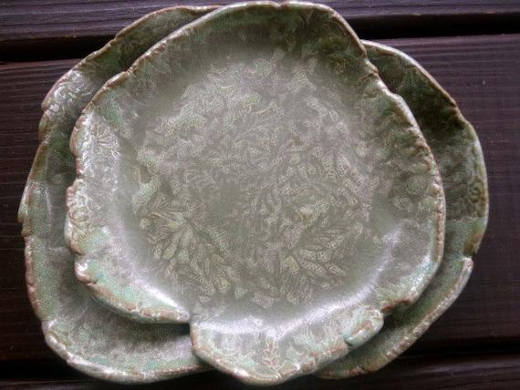 SALE Cabbage Leaves Dish Set