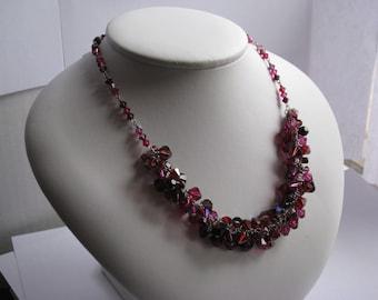 Swarovski Crystal Cluster Necklace Berry Bunch Necklace