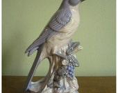 Pretty Periwinkle Bird Figurine