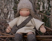 Reserved for Alex - Custom made personal 16 inch Companion Doll according to waldorf pedagogy