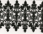Fancy Black Decorative Dresden Paper