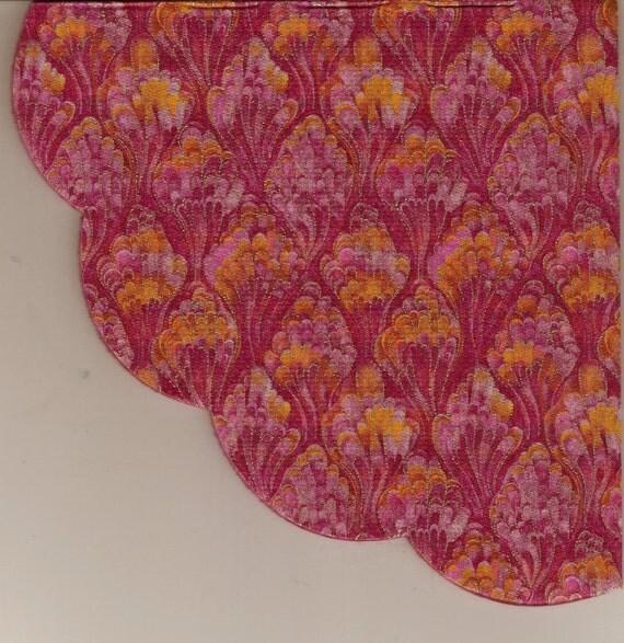 SILKEN RICE PAPER NAPKINS For Decoupage Paper Arts Golden Maroon Fleur