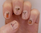cocktail nail transfers