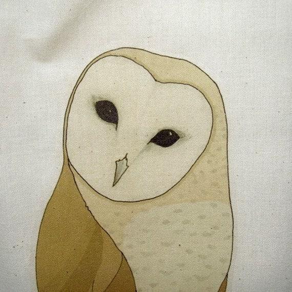 barn owl cotton bag