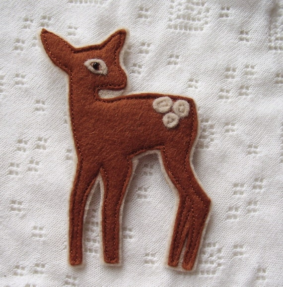 RESERVED FOR 13tamarind white-tail deer brooch