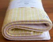 SANDPIPER organic cotton burp cloths, set of two