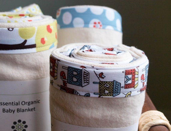 On SALE save 25%, Organic Baby Blanket in FOX in the HENHOUSE, Last One