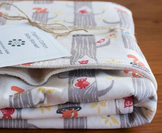 Organic Baby Blanket, WOODLAND FRIENDS