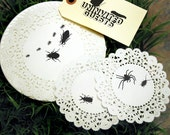 Uninvited Guests Handprinted Doilies