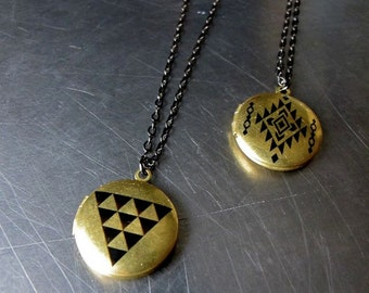 Geo Triangle  Locket