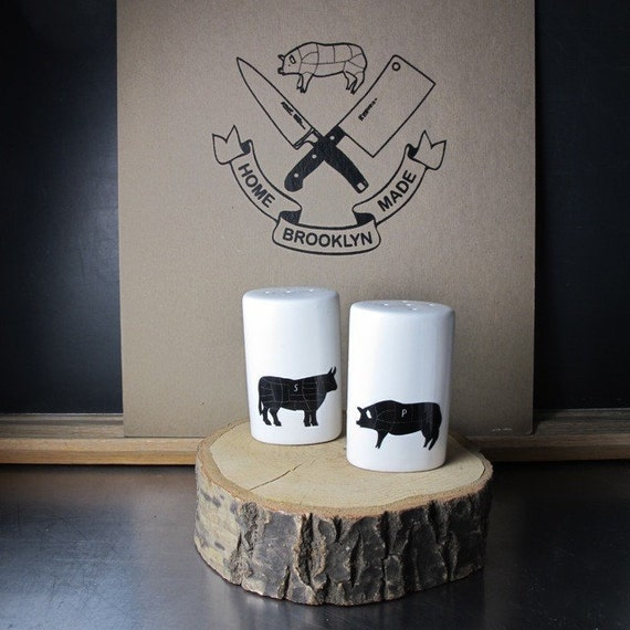 Bbq Fun Salt And Pepper Shakers By Brooklynrehab On Etsy