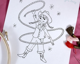 Cowgirl Suzy Embroidery Pattern
