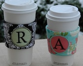 Monogram Coffee Sleeves Machine Embroidery Design Files