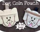 Dog Shaped Coin Pouch Machine Embroidery Design File