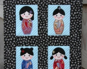 Girls of Japan Machine Embroidery Design Set