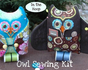 Owl Sewing Kit Machine Embroidery Files Instant Download