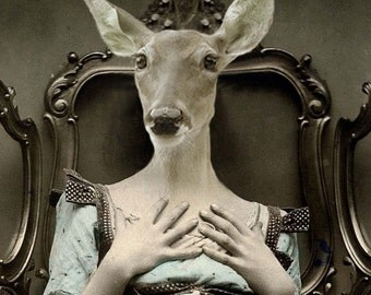 Deer Lucy 5x7 Anthropomorphic print