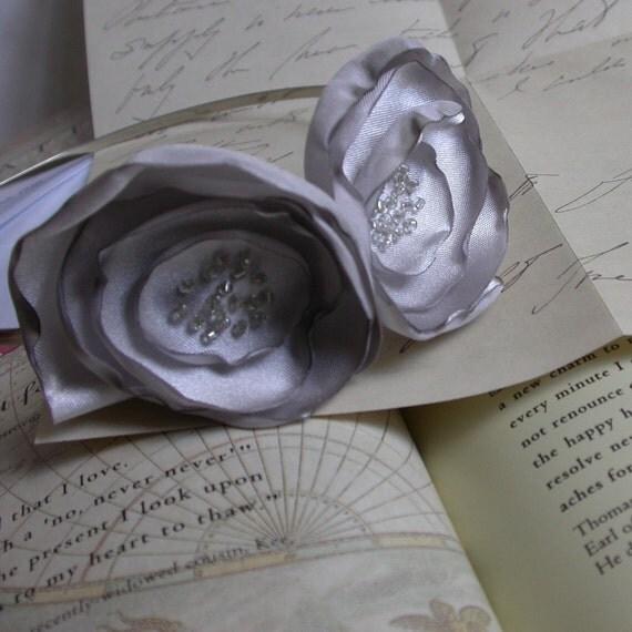 Silver Poppy Headband