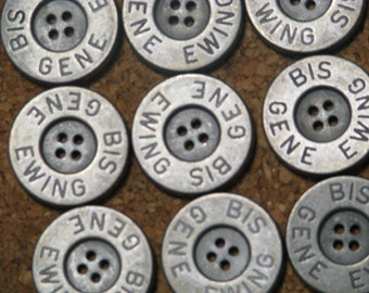"Solid Metal Buttons: SilverExtra Large 1.25"" Diameter"