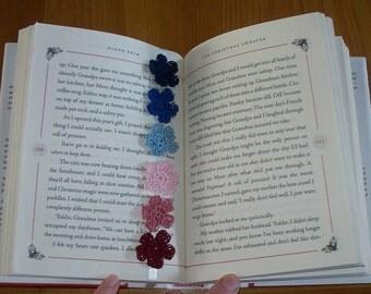 Hand Made Crochet Flower Bookmark