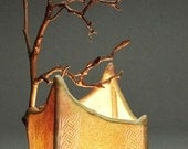 Teague handmade paper and twig lamp