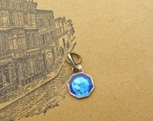 Antic Blue Enamel tiny Lourdes virgin medal