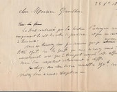 Dated 23 of June 1899 French handwrited letters with stamp