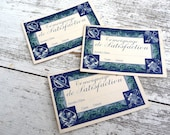 1920 French school bon points satisfaction wittness set of 3