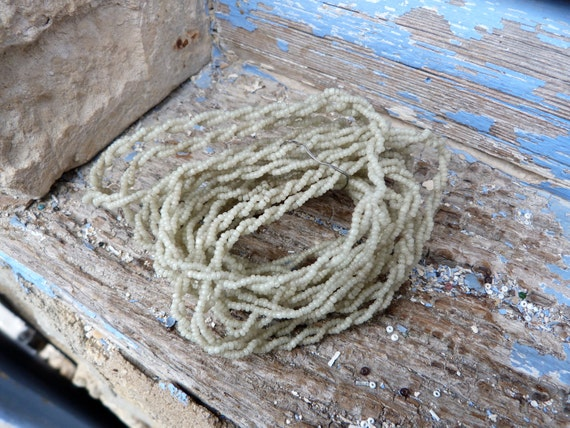 Antique beaded  yarn vintage French beadwork  total 4 yards & half