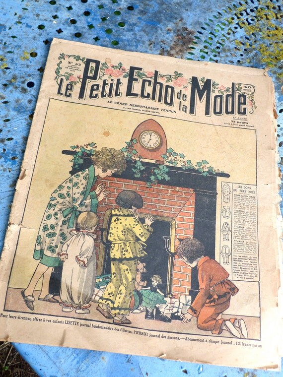 Vintage French Issue 1920/1930 vintage/ advertisements /paper ephemera/ antique/ fashion /art deco, black and white,