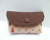 Piggy Pouch Cosmetic Bag Japanese Fabric