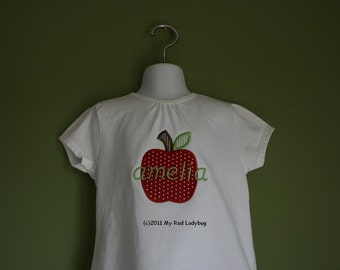 Personalized Back to School Apple Shirt