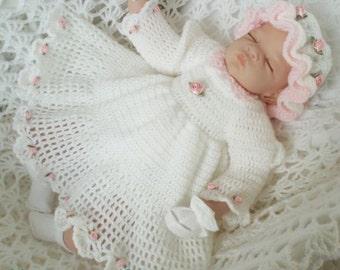 Baby Crochet Pattern Dress, Hat Crochet Pattern DIGITAL DOWNLOAD 48