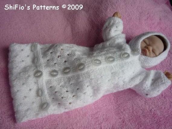 Knitting Pattern For Dolls Sleeping Bag : KNITTING PATTERN For Doll Snuggly Sleeping bag Knitting ...