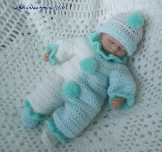 Emmy Doll Knitting Pattern : CROCHET PATTERN For Doll Clown Suit Hat & Slippers PDF 78