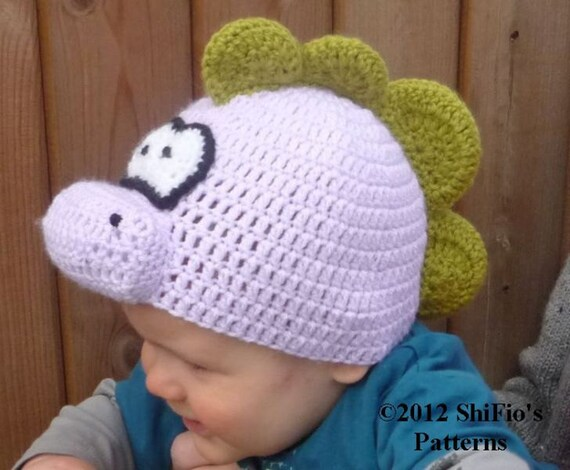 CROCHET PATTERN For Baby Animal Hat Beanie, Dinosaur Hat, Lion, Penguin, Lamb in 5 Sizes PDF 211  Digital Download