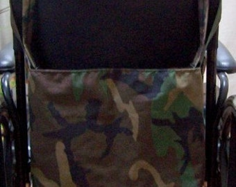 Walker Tote Bag, Stroller Tote Bag, Wheelchair Tote Bag, Ready to Roll Camouflage  B999