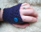 violet sky fingerless mitts