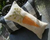 BURLAP PILLOW - Carrot Pillow