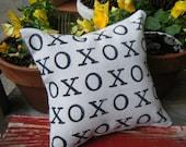 X O X O X O Burlap Pillow~ette