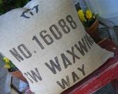 Original Address Burlap Pillow Slip Cover